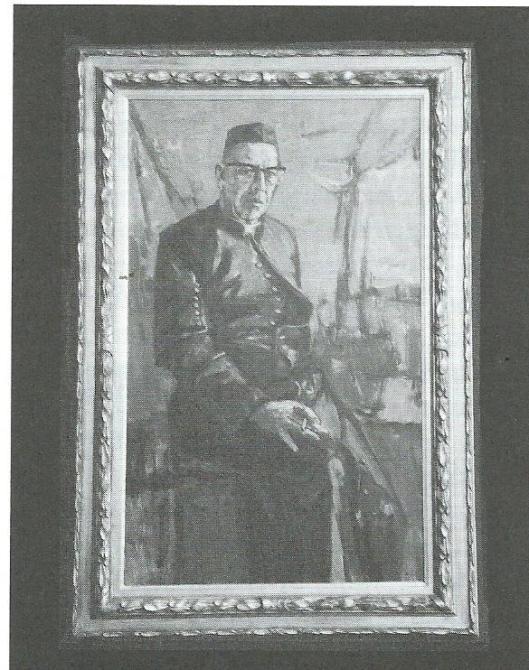 Portret van regent dr.C.J.Henning; door N.Olthuis uit 1962