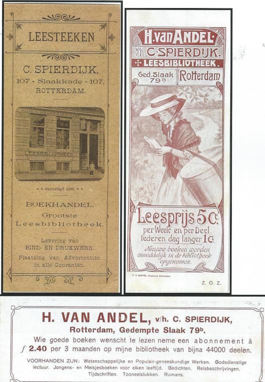 Boekenleggers C. Sierdijk / H.van Andel, Rotterdam (Hillebrand Komrij)