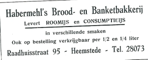 Adv. Habermehl's Brood- en Banketbakkerij
