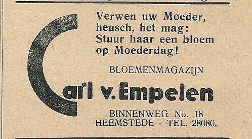 Middenstandsrijm van Carl van Empelen, Heemstede. Uit: Ons Blad, 1934
