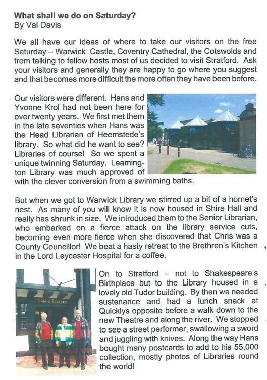 From: Gemini, Leamington International Friendship Society Magazine. Summer 2012