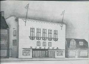 Artists impression van het Minerva Theater door ir.W.Ph.van Harreveld