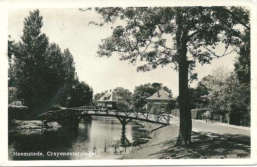 Crayenestersingel op een ansichtkart uit omstreeks 1950