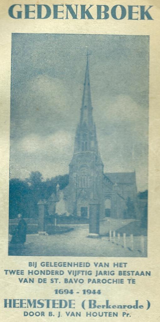 Vooromslag van in 1944 verschenen gedenkuitgave 250 jaar katholiek leven in Berkenrode-Heemstede
