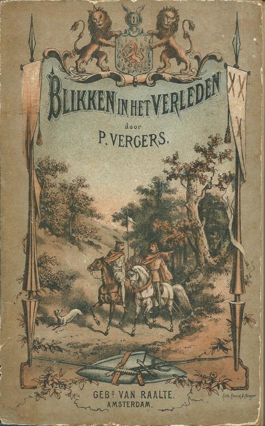 Vooromslag van 'Blikken in het verleden' door Pieter Vergers. 18726.