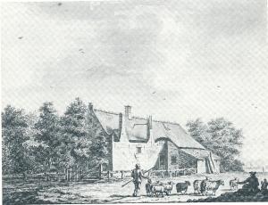 Tekening van P.van Loo (1774), mogelijk Overthoorn? {Noord-Hollands Archief]