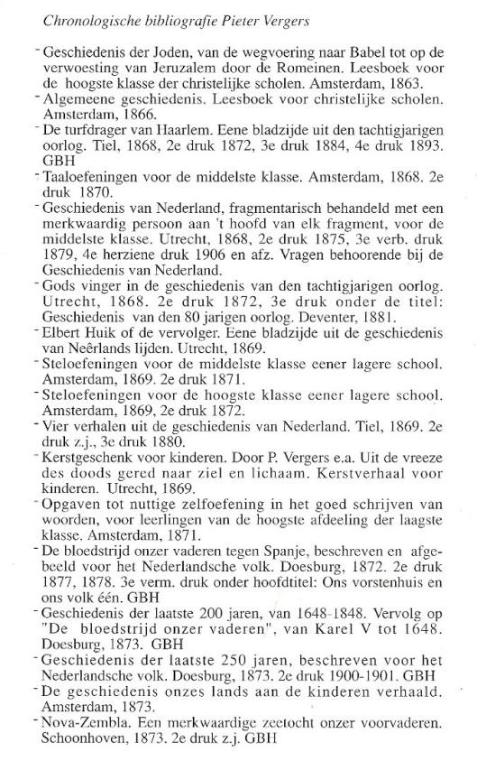 Bibliografie Pieter Vergers (1)