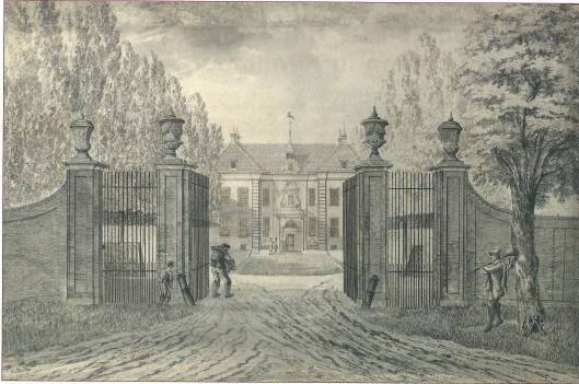 De Hartekamp in Heemstede getekend in 1773 door Hendrik Tavenier (Noord-Hollands Archief)
