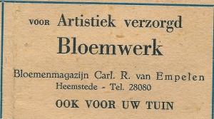 Advertentie Carl R.van Empelen uit 1948
