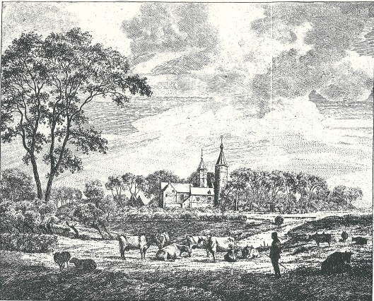 Het slot van Heemstede getekend door F.A.Milatz in 1809
