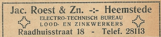 Jac.Roest. Uit: Ons Blad, 1934