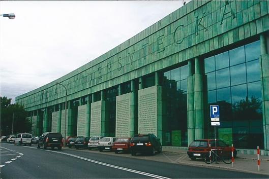 De hypermoderne universiteitsbibliotheek van Warschau in 2008