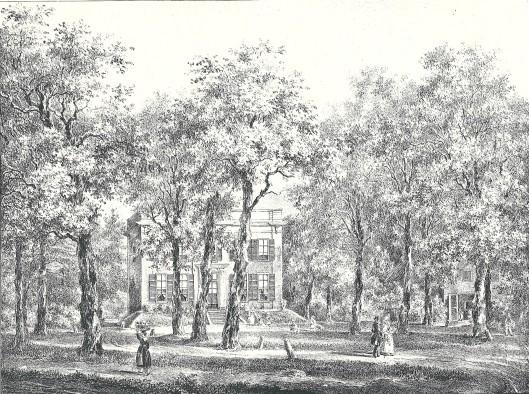Oud Berkenroede. Litho door P.J. Lutgers, circa 1840