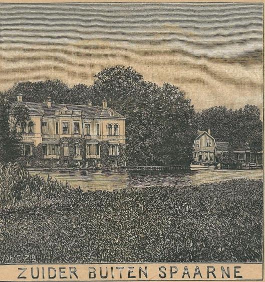 Zuider Buiten Spaarne, Sparenhout. Zondagsblad, 6 juli 1908