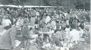 De Koninginnedag-vrijmarkt aan de Vrijheidsdreef in Groenendaal in 1994