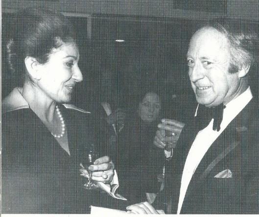 Maria Callas met Bovema-directeur Ger Oord na de eerste steenlegging in de nieuwe platenstudio aan de Overboslaan achter het Gramophone House