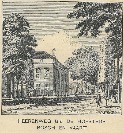 Heerenweg bij de hofstede Bosch en Vaart. Zondagsblad, 2 december 1911.