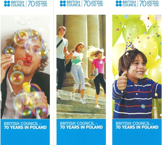 Boeklenleggers uitgegeven n.a.v. 70 jaar British Council Libraries in Polen, 1938-2008