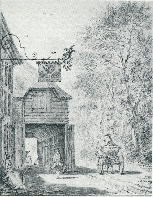 Tekening door Simon Fokke van 'De Dorstige Kuijl'