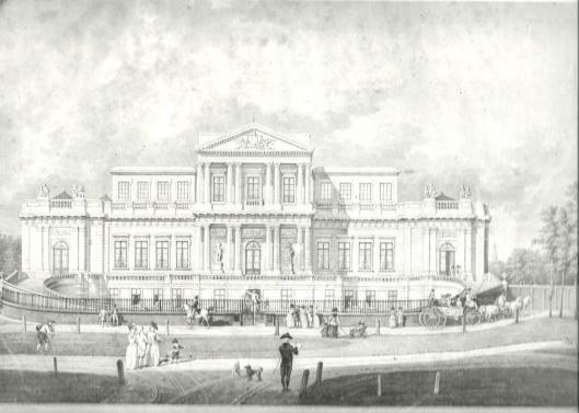 Paviljoen Welgelegen, zuidzijde, 1791. H.P.Schouten, 1791.