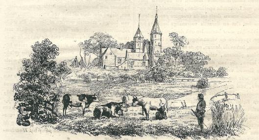 Het Huis te Heemstede. Houtgravure uit 'Penning-magazijn voor de jeugd', 2e jrg. 1838