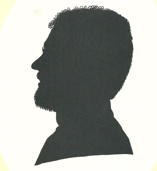 Silhouet en profil, in 1995 getekend door Pieter Wetselaar