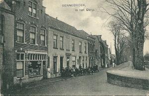 Bennebroekerlaan op ansichtkaart uit 1910