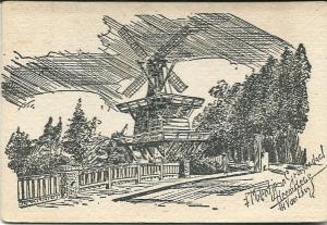 Tekening van het molentje van Groenendaal