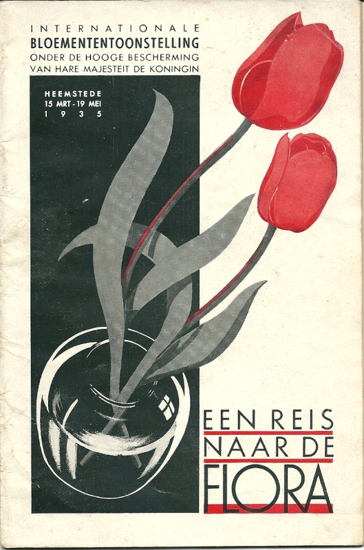 Voorzijde van een in 1935 uitgegeven gidsje 'Een reis naar de Flora'