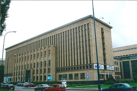 Magazijngebouw van de Jagiellonen bibliotheek in Warschau