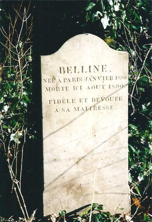Graf van hond Belline (1890) van de familie Van Verschuer Brants op de Hartekamp