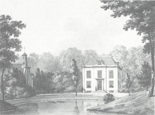 De buitenplaats Boekenrode in 1795 geaquarelleerd door H.Numan