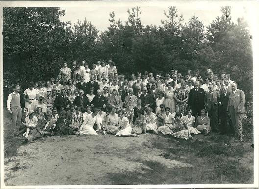 Conferentie van een zendingsgenootschap op 13 augustus 1932 in Groenendaal