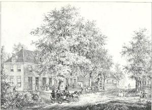 De Geleerde Man, steendruk door P.J.Lutgers, circa 1843