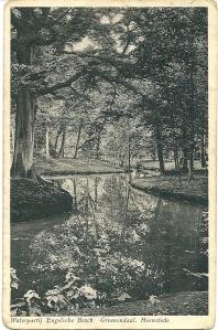 Waterpartij Engelse bos in Groenendaal op ansichtkaart uit 1931
