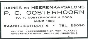 Advertentie P.C.Oosterhoorn