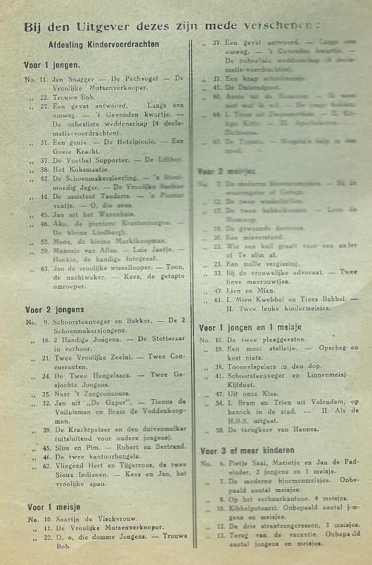Bij uitgever Bokstijn verschenen voordrachten e.d (1)