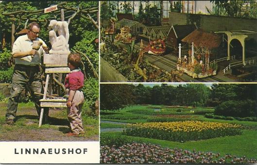 Linnaeushof Bennebroek met beeldhouwer, minicorso en park als afbeeldingen