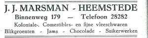 Adv. J.J.Marsman, Binnenweg 179, Heemstede (1927)