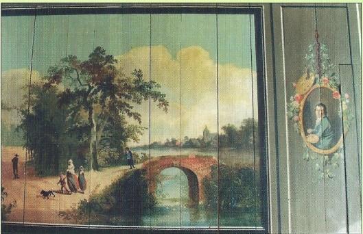 Linker deel van tweeluik met in het midden (hier rechts) mogelijk het zelfportret van Herman Gerard Wolbers (foto Cees Peper)