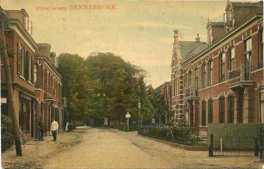 Oude ansicht van Rijksstraatweg Bennebroek