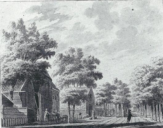 Het Dronkenhuisje, getekend door Hendrik Tavenier, circa 1775