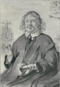 Portret van Pieter van der Wiel door D.de Bray. Hij was een zoon van Coenelis Frans van der Wiele(n), die zijn oon toestond op de Achterkoekoek in een zogeheten schuilkerk op zolder erediensten te houden. Het gebouwtje Jachtlust, thans bij Koekoeksduin in Vogelenzang.