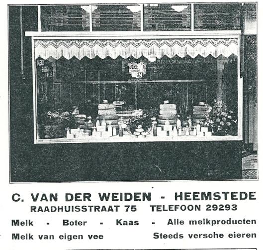 Adv. C. van der Weiden, melkproducten, Raadhuisstraat 75 Heemstede