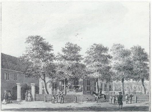Het oude Eindenhout, getekend in Oost Indische inkt door H.Schouten, circa 1780 (N.H.Archief)