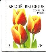 De tulp 'Kees Nelis' op een Belgische postzegel uit 17 april 2000. In serie Flora bloemen Priority segel Tulp, variëteit 'Triomf', sub-variëteit 'Kees Nelis'