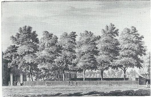 Nog een tekening van het eerste Eindenhout, getekend door Hendrik Spilman omstreeks 1780 (Noord-Hollands Archief)