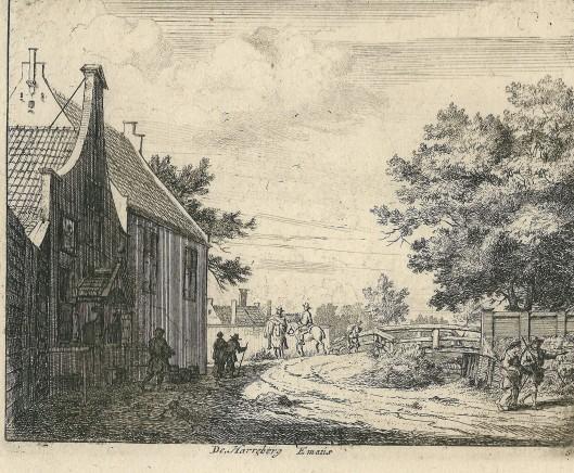 'De Herreberg Emaus', ets van Jan van der Vinne, ca. 1700