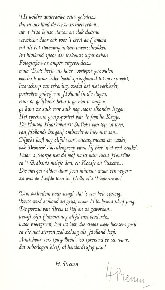 Camera Obscura 1839-1989 door Harry Prenen, gedrukt op de Avalon Pers in 1989 op verzoek van de openbare bibliotheek Heemstede