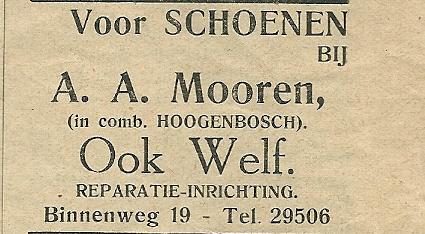 Advertentie uit: Ons Blad, 1934